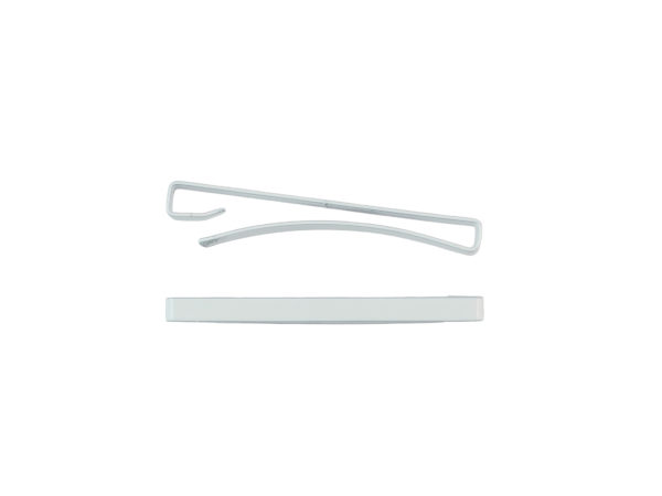 "Image of White 1.5"" Bar Barrette"