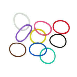 Image of Assorted Colors Rubber Hair Band