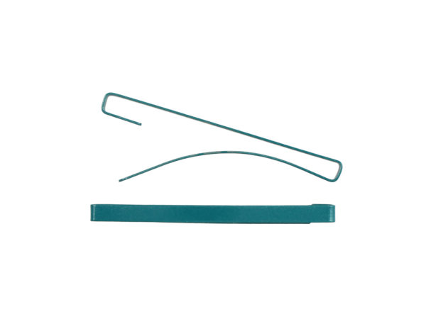 "Image of Teal 2"" Bar Barrette"