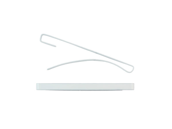 "Image of White 2"" Bar Barrette"