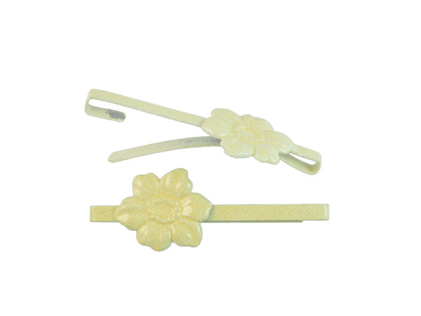 Image of Butter Yellow Dogwood Barrette