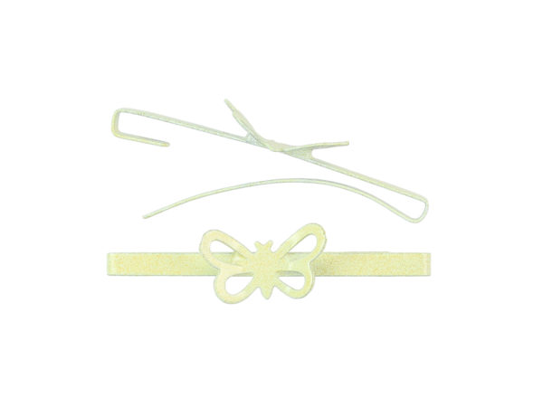 Image of Butter Yellow Butterfly Barrette
