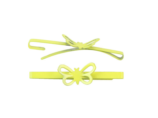 Image of Lemon Yellow Butterfly Barrette