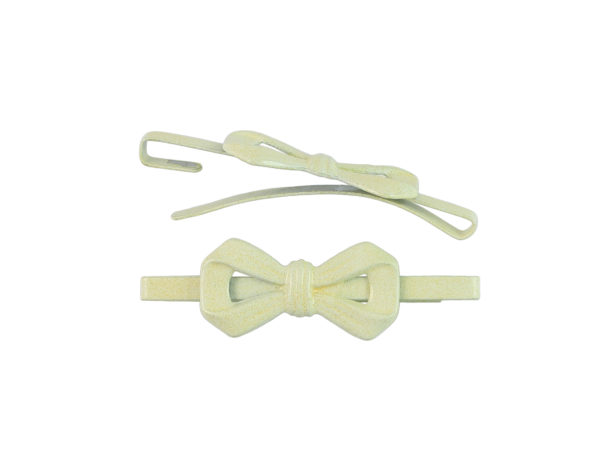 Image of Butter Yellow Bow Barrette