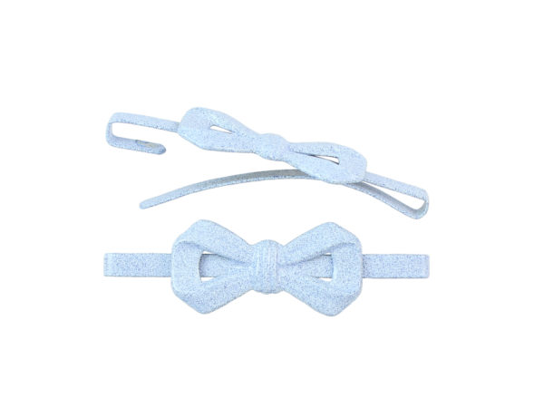 Image of Sky Blue Bow Barrette
