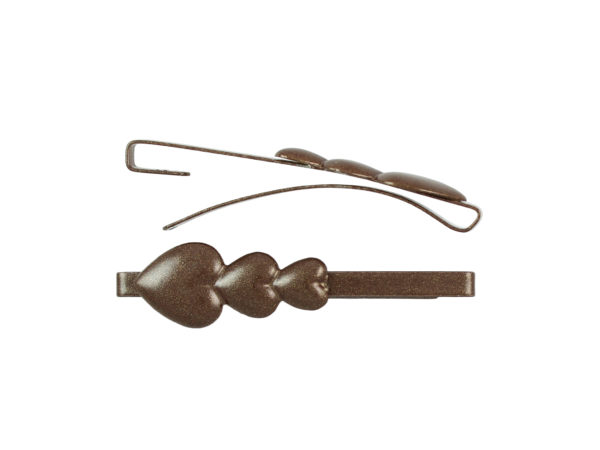 Image of Brown Hearts Barrette