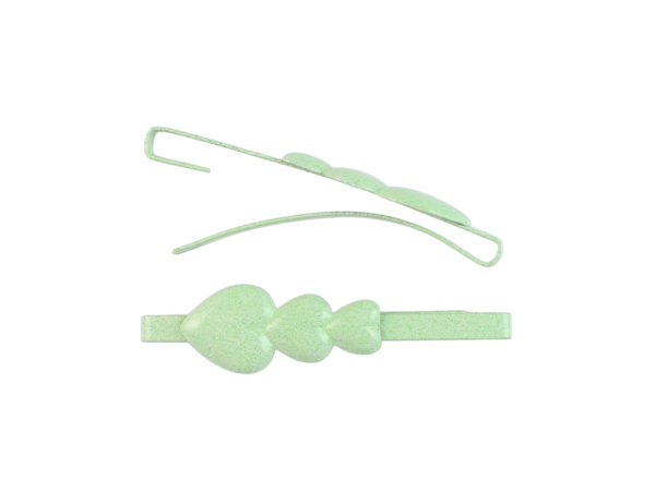 Image of Mint Green Hearts Barrette