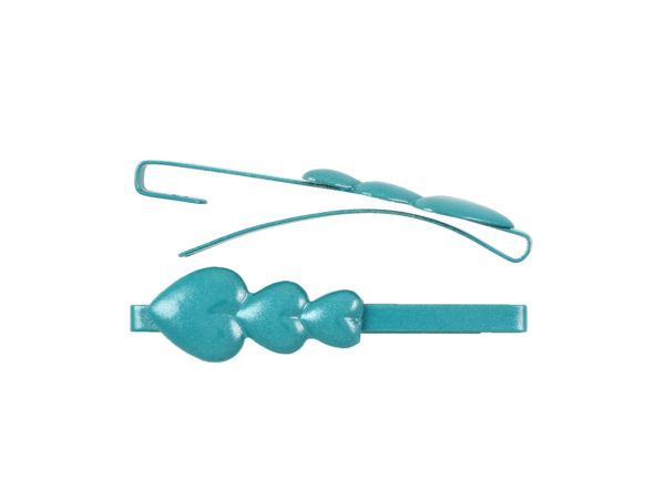 Image of Teal Hearts Barrette