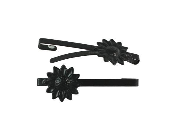 Image of Black Sunflower Barrette