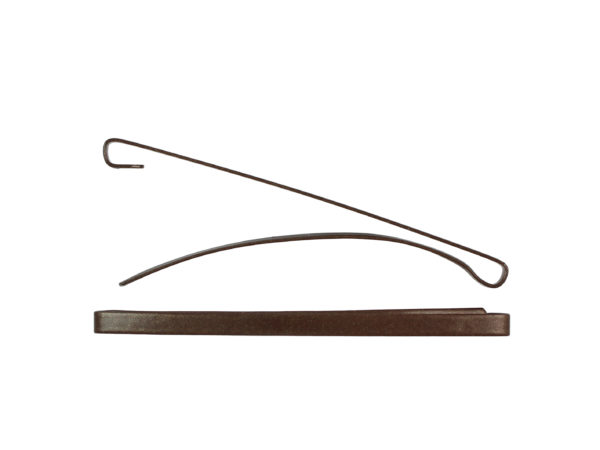 "Image of Brown 3"" Bar Barrette"