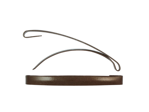 "Image of Brown 3"" Dome Barrette"