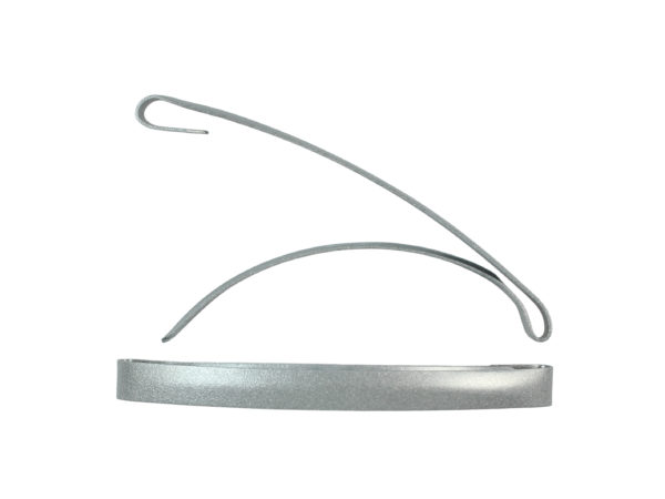"Image of Silver 3"" Dome Barrette"