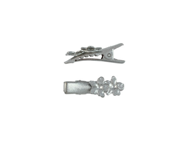 Image of Silver Pansy Pinch Clip