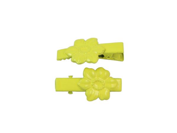Image of Lemon Yellow Dogwood Lil Girl Pinch Clip