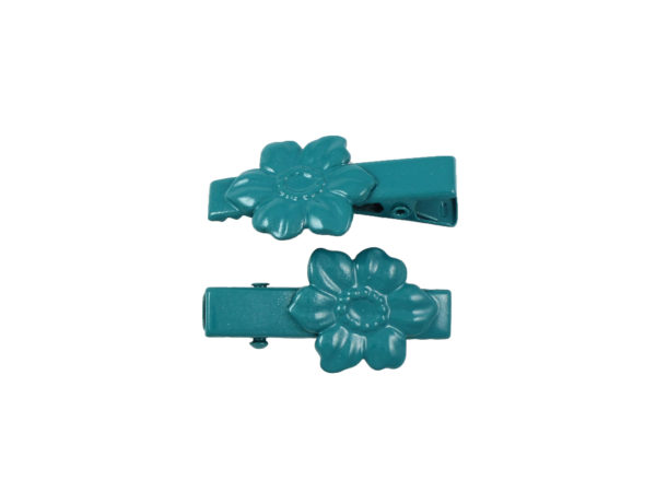 Image of Teal Dogwood Lil Girl Pinch Clip