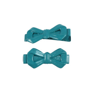 Image of Teal Bow Lil Girl Pinch Clip