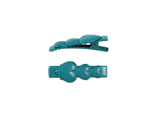 Image of Teal Hearts Lil Girl Pinch Clip