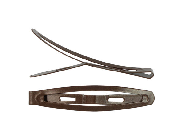 "Image of Brown 2.5"" Snap Barrette"