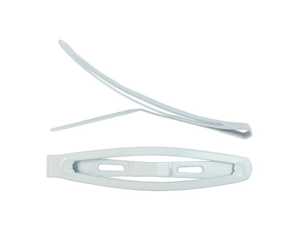 "Image of White 2.5"" Snap Barrette"