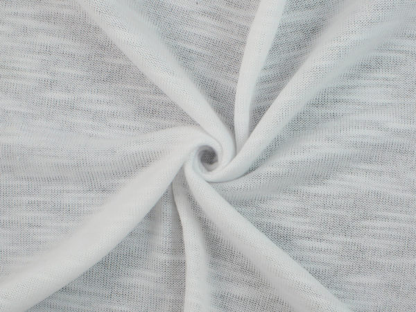 Image of White Slub Knit fabric