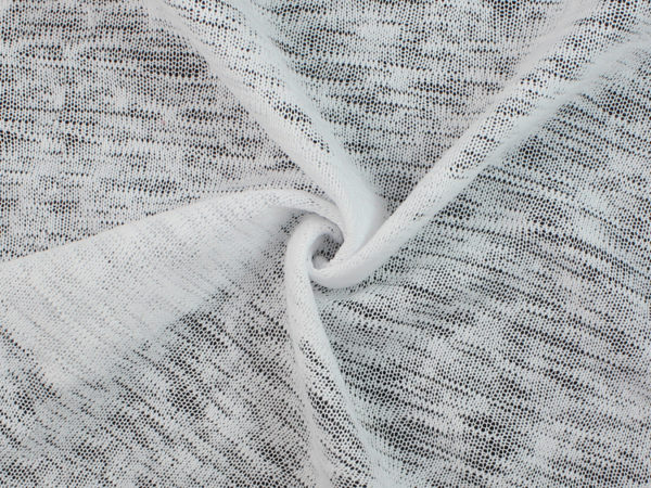 Image of White Hacci Knit fabric