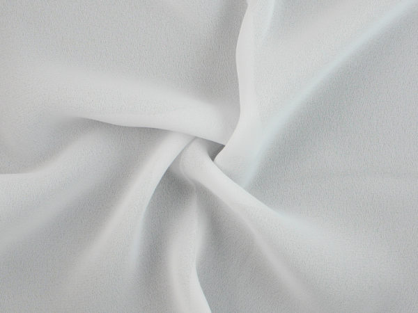 Image of White Double Georgette fabric