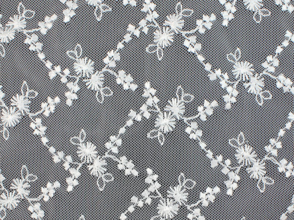 Image of White Vine with Flower fabric