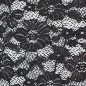 Image of Black Large Pansy fabric
