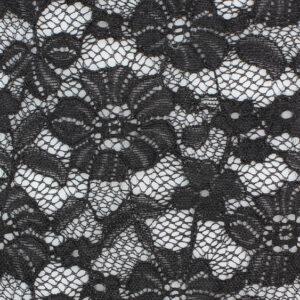 Image of Black Large Pansy fabric