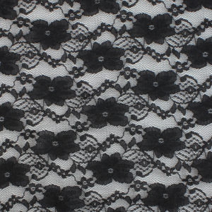 Image of Black Small Pansy fabric