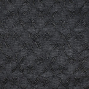 Image of Black Opaque with Embroidery fabric