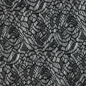 Image of Black Crochet Lace fabric