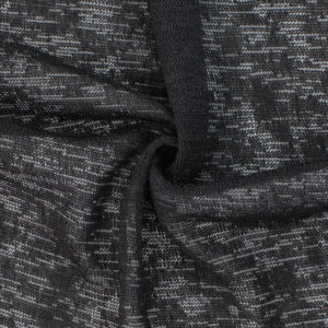 Image of Black Hacci Knit fabric