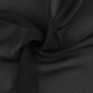 Image of Black Double Georgette fabric