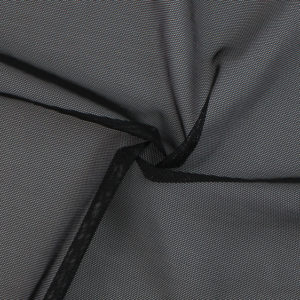 Image of Black Heavy Mesh fabric