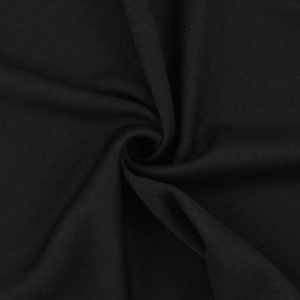 Image of Black Interlock Knit fabric