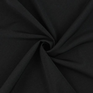 Image of Black Matte Jersey fabric