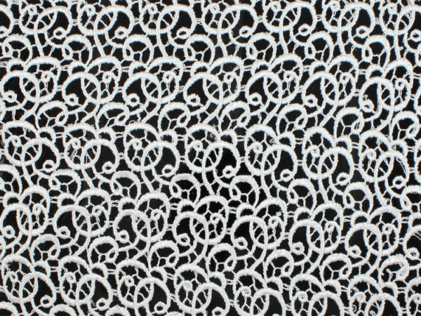 Image of White Swirl Venice Lace fabric