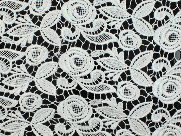 Image of White Rose Venice Lace fabric