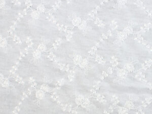 Image of White Opaque Vine with Flower fabric